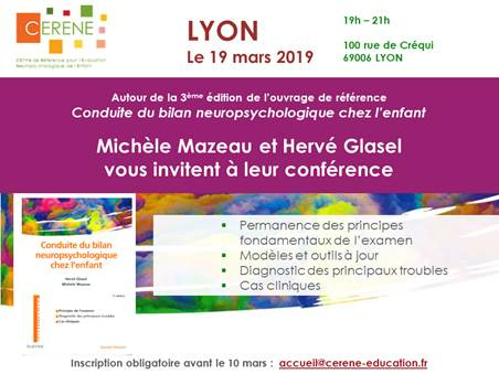 CONFERENCE : LE CERENE